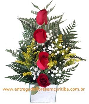 Cód: 5646                                            Ikebana com Rosas(Consulte Cores Disp