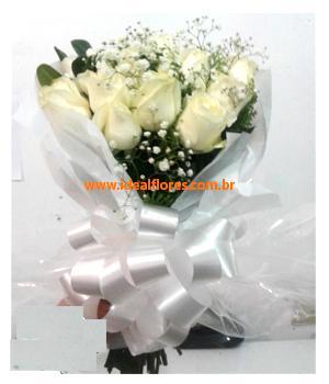 Cód: 5667                         Buquê  Rosas brancas