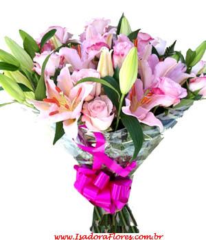 Cód: 5196                                          Rose com Lírio e Rosas
