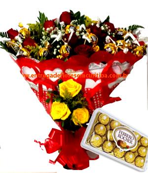 Cód: 5118 Buquê Gold Ouro Branco e Ferrero Rocher
