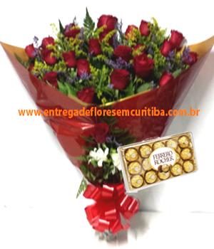 Cód: 5599                                          Buquê 2 Dúzias de Rosas+ Chocolate