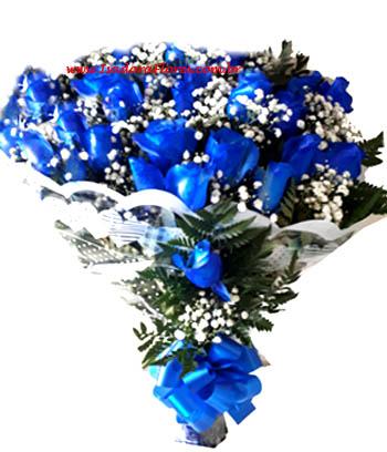 Cód: 5133  Buquê 26 Rosas Azuis