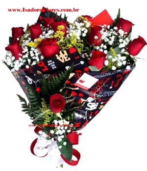 cod (5106) Buquê 12 Rosas Premium