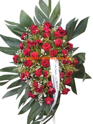 Cód: 5694                 Coroa de Flores Rosa Luxo
