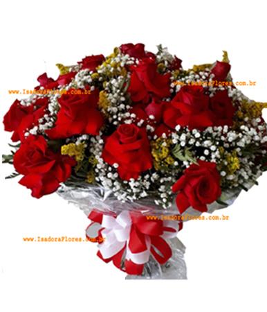 Cód: 5128             -Buquê 36 Rosas Colombianas