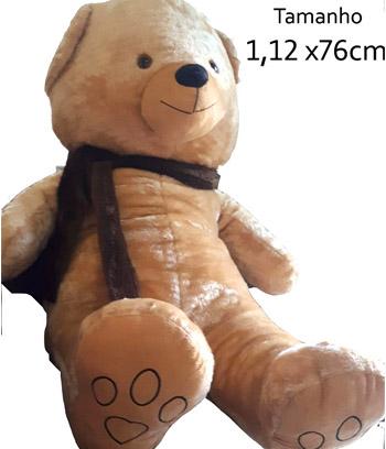 Cód: 5349                                            Urso Gigante com Cachecol